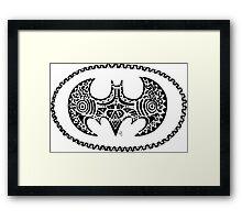 Batman tribal Framed Print