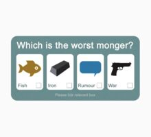 Alan Partridge - Which is the worst Monger? T-Shirt