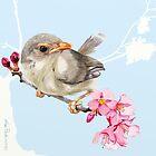 Spring Sparrow - 2012 by Sue Flask