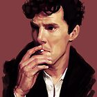 Benedict Cumberbatch digital portrait by Ree-sah