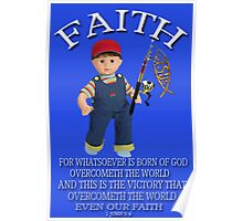 <º))))>< FAITH BIBLICAL CHILDS PICTURE AND OR CARD<º))))><      Poster
