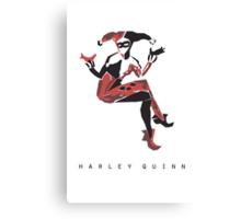 Harley Quinn Minimalist Poster Canvas Print