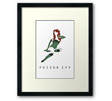 Poison Ivy Minimalist Poster Framed Print
