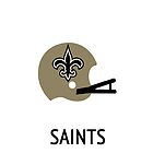 New Orleans Saints NFL Helmet iPhone Case by aschwall33
