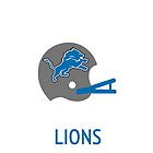 Detroit Lions NFL Helmet iPhone Case by aschwall33