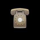 Rotary Phone (beige on black) by elert