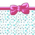 Dots Spots, Ribbon and Bow, Blue White Pink by sitnica