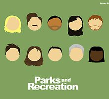 Parks and Recreation Characters by jamesrostron