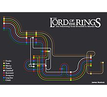 Lord of the Rings Fellowship Route Map Photographic Print