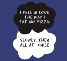 TFIOS - I fell in love the way I eat my pizza by Connie Yu