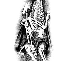 Halloween Skeleton in Manacles! Digital Halloween Engraving. by digitaleclectic