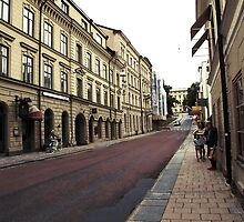 Drottninggatan Västra, Uppsala, Sweden by Elisabeth and Barry King™ by BE2gether