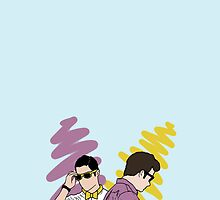 Klaine 5ever (iPhone 5, iPad, sticker, t-shirt, poster/print) by wellsi