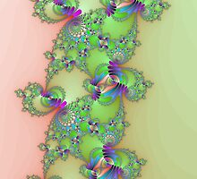 Fractal in Green & Pink by RickLionheart
