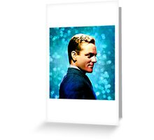 James Cagney, blue screen Greeting Card