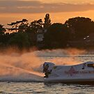 Power Boats on Oulton Broad by RedHillDigital