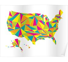 Abstract America Bright Earth Poster