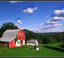 INDIANA  FARM ON HILL by Randy & Kay Branham