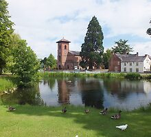 The Pond and St. John the Baptist Church by Yampimon