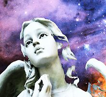 Stargazer - Angel Art By Sharon Cummings by Sharon Cummings