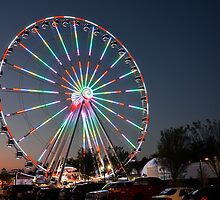 The Wheel at Night by LarryB007