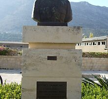 Commemorative Statue Bust on Island of Crete in Greece 2 by JaguarJulie
