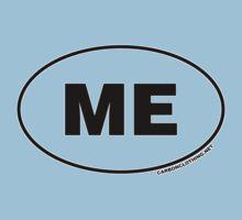 Maine ME Euro Oval Sticker Kids Clothes