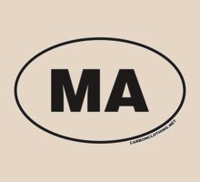 Massachusetts MA Euro Oval Sticker by CarbonClothing