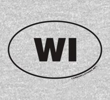 Wisconsin WI Euro Oval Sticker by CarbonClothing