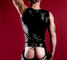 42638 Leather Chaps Nude Male by PrairieVisions