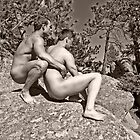 45118bw Male Couple Art Nude by PrairieVisions