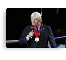 Boris Johnson receives the Paralympic order from the IPC Canvas Print