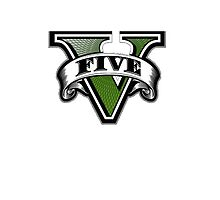 Grand Theft Auto V Emblem (White Case) by Cody Ayers