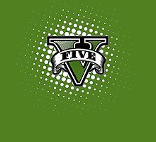 Grand Theft Auto 5 Cool Emblem (Green Case) by Cody Ayers