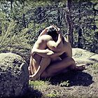 45259v Embrace Male Couple Art Nude by PrairieVisions