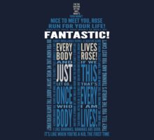 Doctor Who TARDIS Quotes shirt - Ninth Doctor Version by DesignComa