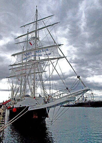 "Tall Ship ""Lord Nelson"" at Williamstown by Bev Pascoe"
