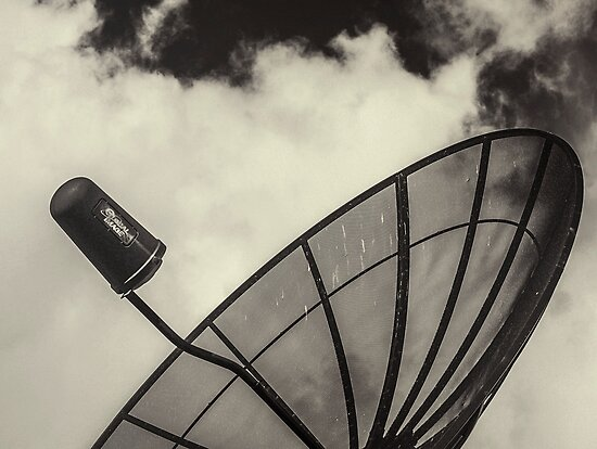 Satellite And Clouds by Rebecca Dru