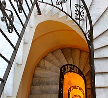 Spiral Marble Staircase by jwwallace