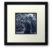 A Kiss In The Rain Framed Print