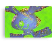 Just a little blue bunny Canvas Print