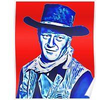John Wayne in Red River Poster