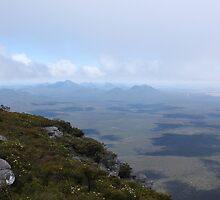 View from Bluff Knoll as the fog lifts looking west by RickLionheart