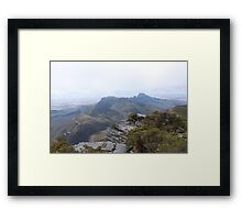 View from Bluff Knoll as the fog lifts looking east Framed Print