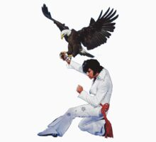 Elvis Hunts with an Eagle by zandozan