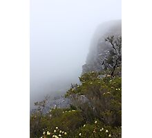 View from Bluff Knoll as the fog starts to lifts   Photographic Print