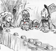 Alice's Deathly Tea Party by SquibbleDesign