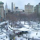 union sq in snow  by Danny  Daly