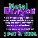 1940 2000 Chinese zodiac born in year of Metal Dragon by Valxart.com  by Valxart