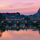sunset in rome by dreamax1985